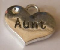 Aunt Wine Glass Charm - Full Sparkle Style